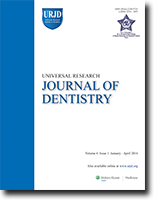 Universal Research Journal of Dentistry